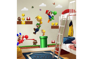 Super Mario Brothers Wall Stickers - 2 Styles to Choose From - $13 with FREE Shipping!