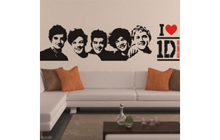 One Direction Wall Stickers - 2 Styles to Choose From - $12.50 with FREE Shipping!