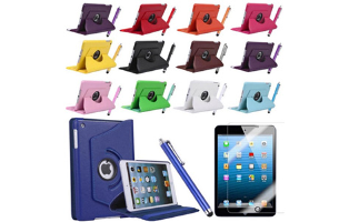 Leather Rotating Case & Cover for iPad Mini - $16 with FREE Shipping!