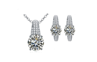 Charmed Crystal Earring/Necklace Set - $18 with FREE Shipping!