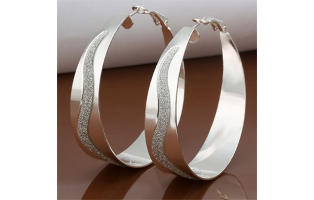 Euphoria Hoop Silver Plated Earrings - $13 with FREE Shipping!