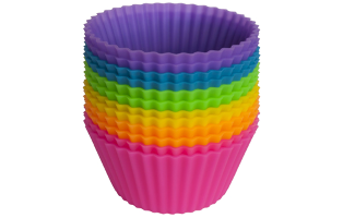 Colorful Silicone Muffin Cups- $12 with Free Shipping