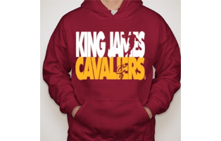 LeBron James - King James Cavaliers Hoodie - $36 with FREE Shipping!