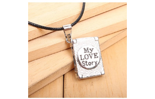 My Love Story Mini Photo Album Pendant Necklace - $9 with FREE Shipping!
