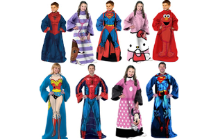 Comfy Character Throws for Kids and Adults- $26 with Free Shipping