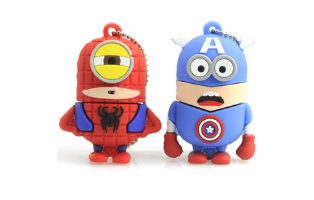Spiderman or Captain America Inspired 8GB USB - $14 with FREE Shipping!