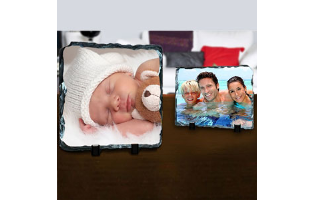 THREE 8X6 Custom Photo Prints on Stone Slates - $19.99