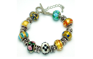 Colorful Pandora Style Bracelet- $15 with Free Shipping