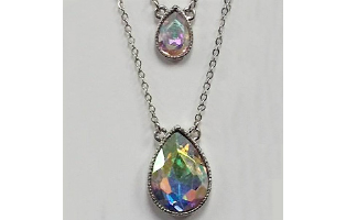 Double Layer Pear-Shaped Crystal Necklace -$19 with Free Shipping
