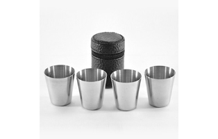 4 Piece Stainless Steel Travel Wine/Shot Glasses - $16 with FREE Shipping!