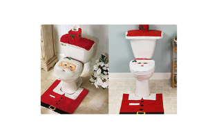 4 Piece Santa Bathroom Set - $25 with FREE Shipping!