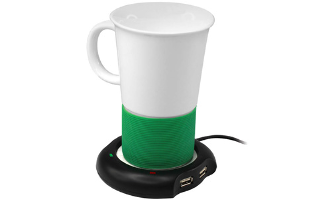 Beverage Warmer with Built in USB Hub- $10 with Free Shipping