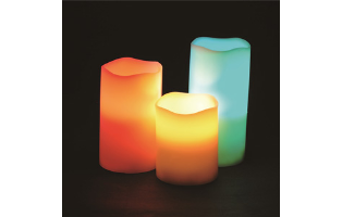 Set of 3: Two Elephants Color-Changing Flameless Candle Set- $24.50 with Free Shipping